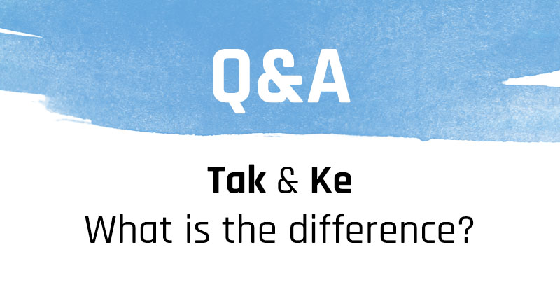 Q&A: Difference between 'tak' and 'ke' in a question